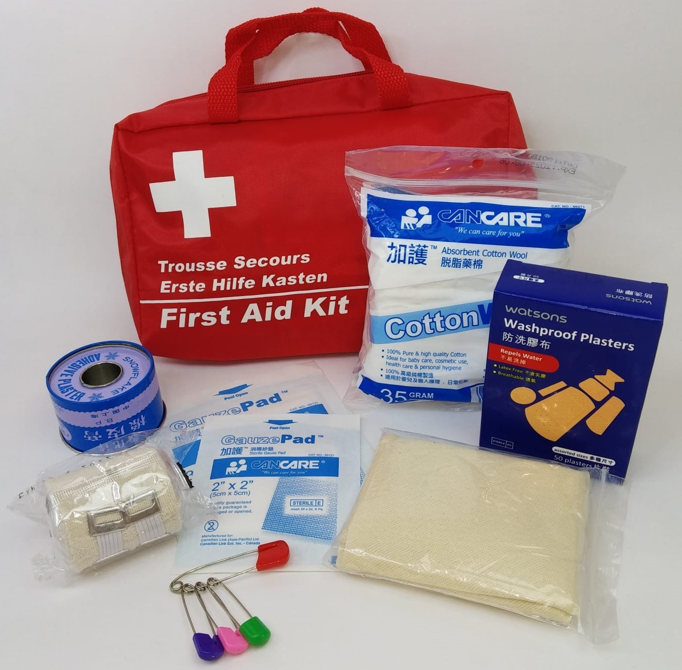 First aid bag (10 persons)